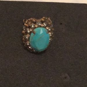 Sorrelli turquoise and crystal ring